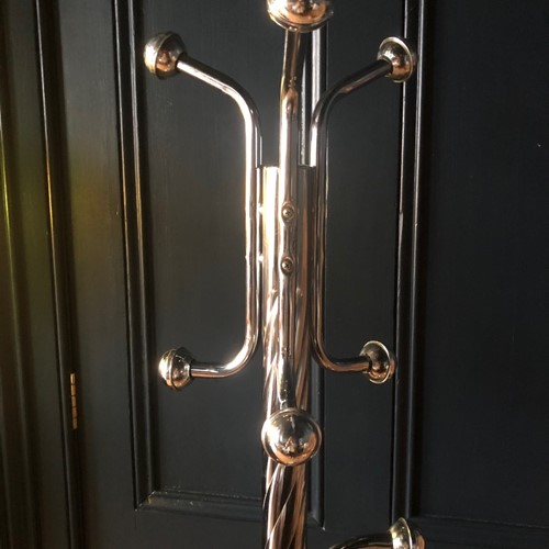 Atomic Chrome & Marble Coat Stand