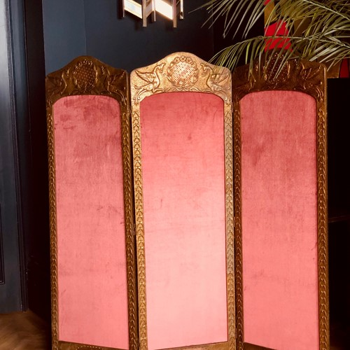 Antique Belgian Dressing Screen