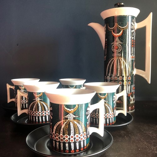 """Magic City"" Coffee Set by Susan Williams Ellis"