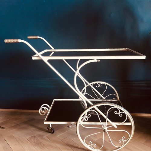 Mid Century French Drinks Trolley / Bar Cart