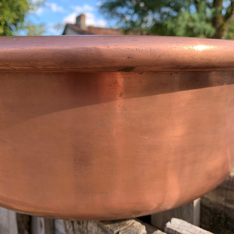 19th Century Enormous French Copper Confiture Pan-99-curiosities-huge5-main-637517822049525996.jpeg