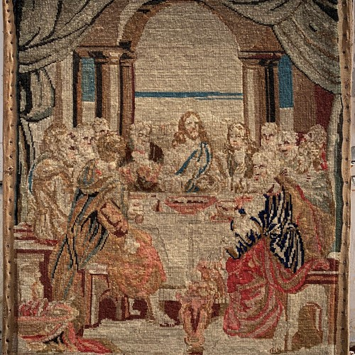 Early Victorian Needlework of the Last Supper