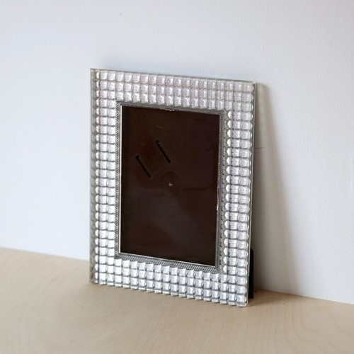 Vintage Textured Clear Plastic Photo Frame
