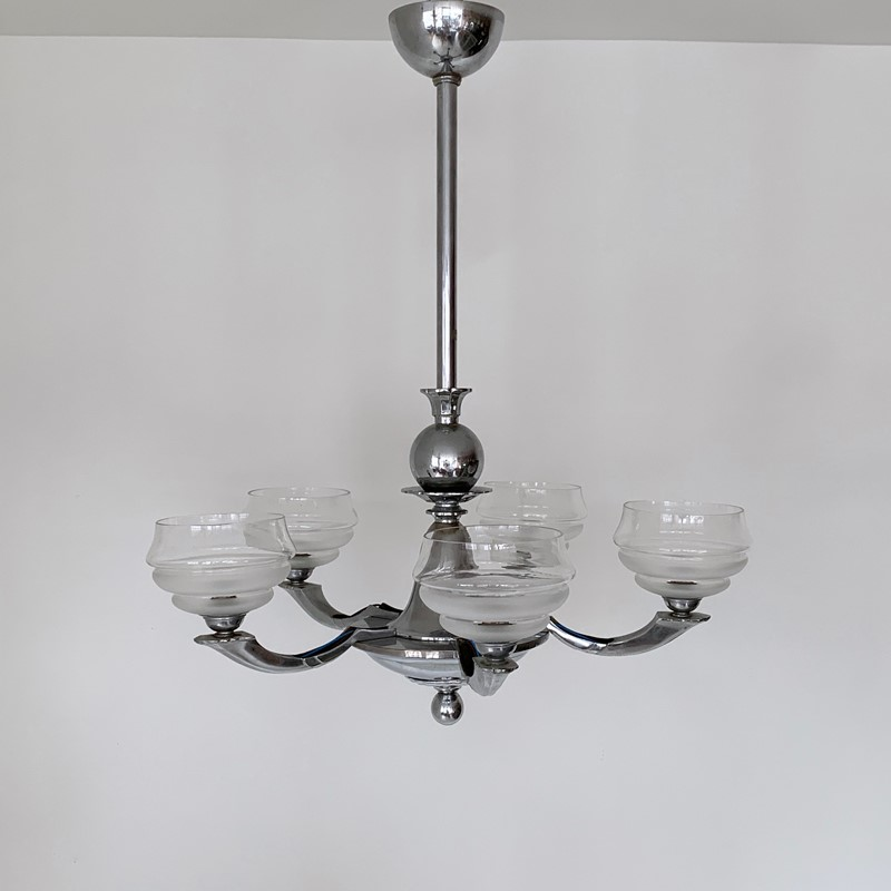 Art Deco Chromed Chandelier with Textured Shades-agapanthus-interiors-art-deco-chromed-chandelier-with-textured-glass-shades-2-main-637014824202644054.jpeg
