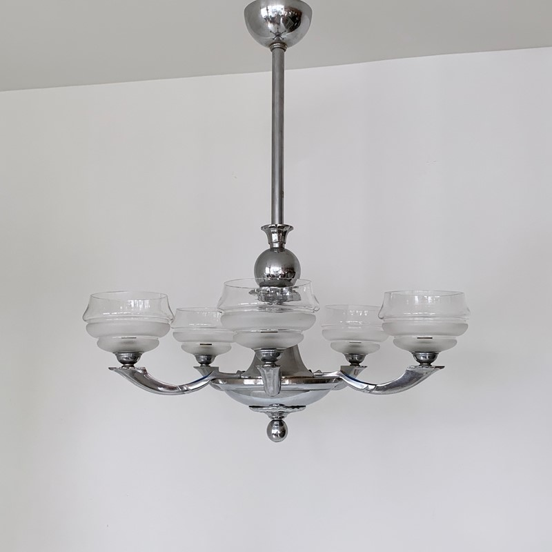 Art Deco Chromed Chandelier with Textured Shades-agapanthus-interiors-art-deco-chromed-chandelier-with-textured-glass-shades-3-main-637014824224050198.jpeg