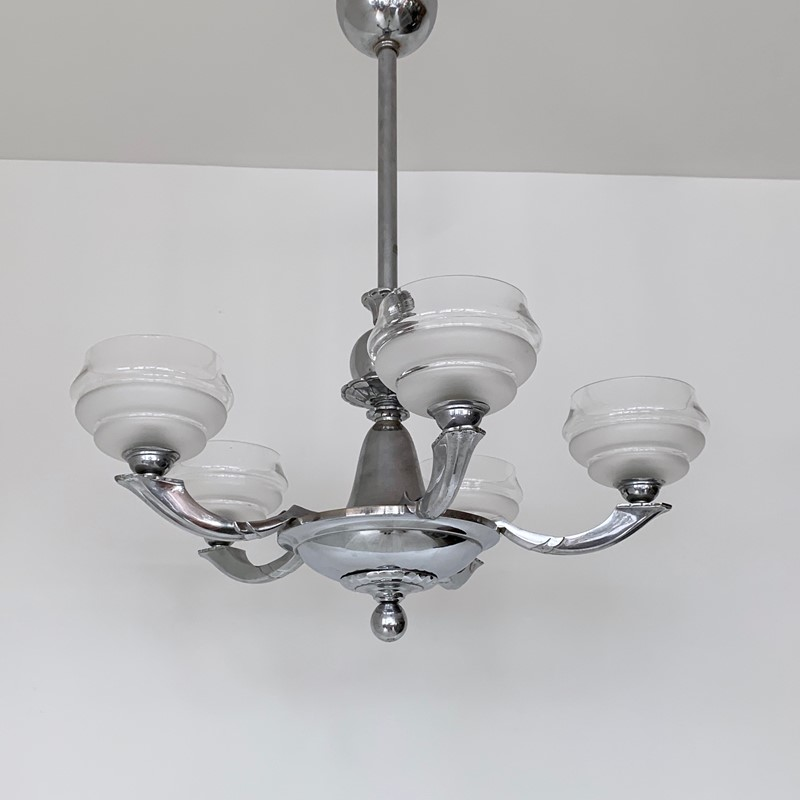 Art Deco Chromed Chandelier with Textured Shades-agapanthus-interiors-art-deco-chromed-chandelier-with-textured-glass-shades-5-main-637014824265768680.jpeg