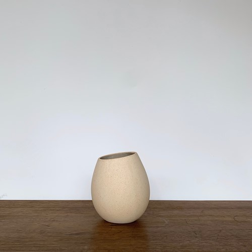 Asymmetric Ceramic Speckled Vase