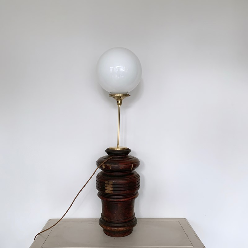 Large Turned Wood Lamp with Opaline Shade-agapanthus-interiors-large-turned-wood-lamp-with-brass-stem-and-opaline-shade-main-637082152114705724.jpeg