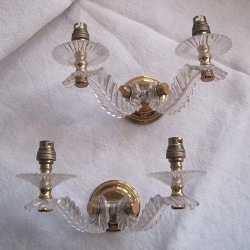 Pair of French double wall sconces