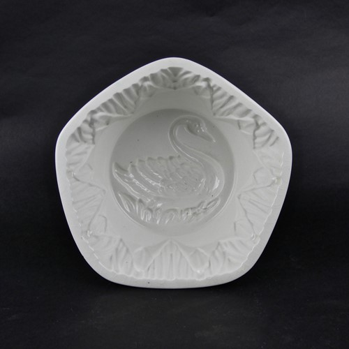 Maling, swan design, pottery mould