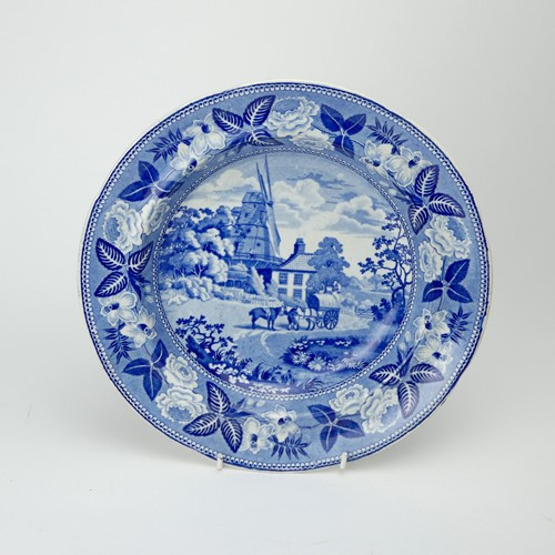 British scenery soup plate