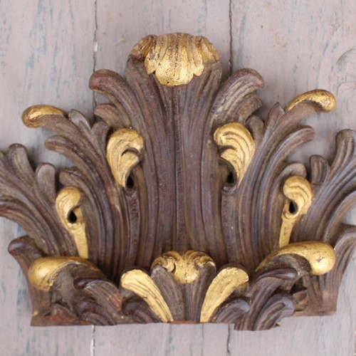 Gilt and carved oak cartouche