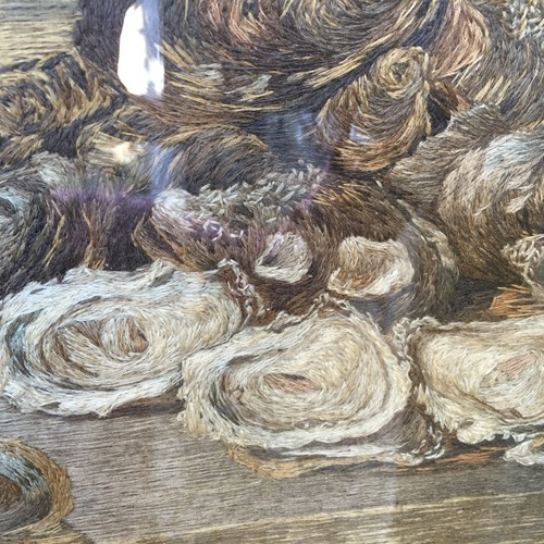 Study of oysters.  Woolwork tapestry