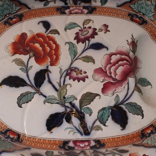 Decorative 19th Century meat platter