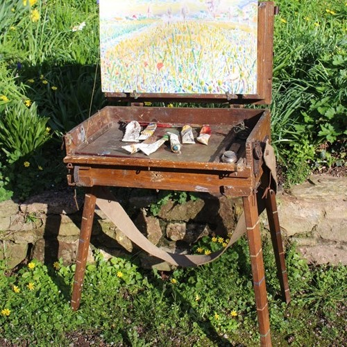 French Impressionist easel very quirky