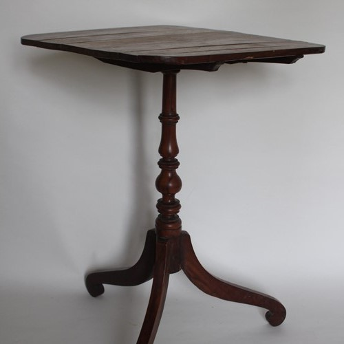 Delicate fruitwood tilt top table