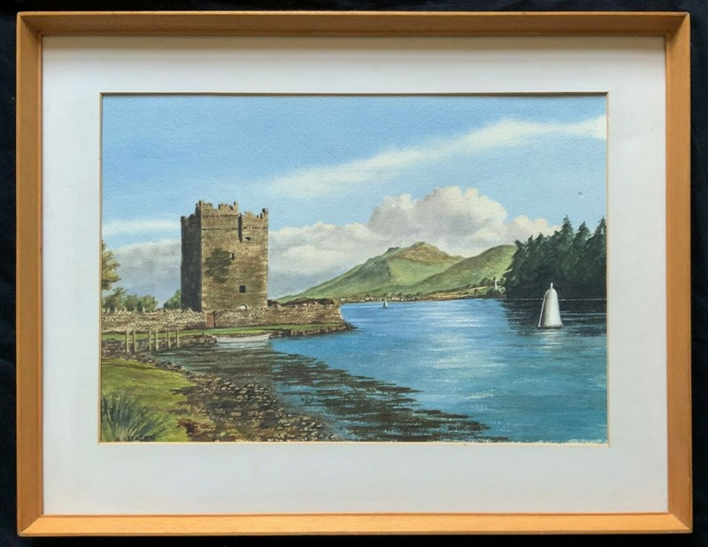 Carlingford castle landscape watercolour painting-artsonline-1-main-637382679604418131.jpg