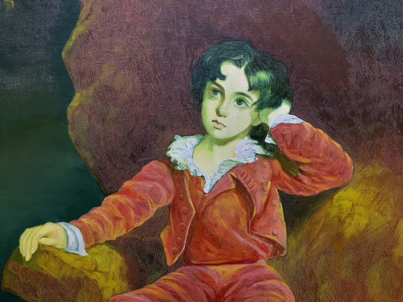 'The Red Boy' Large Portrait Oil Painting-artsonline-img-0147-2-main-637445842008812346.JPG