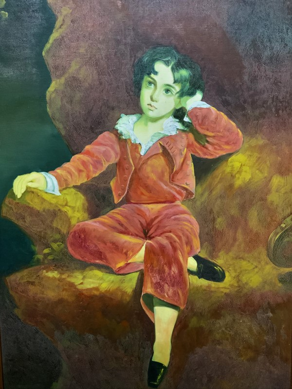 'The Red Boy' Large Portrait Oil Painting-artsonline-img-0149-2-main-637445842040843289.JPG