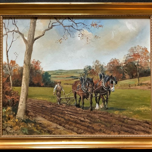 Equestrian Oil Painting by Alan King
