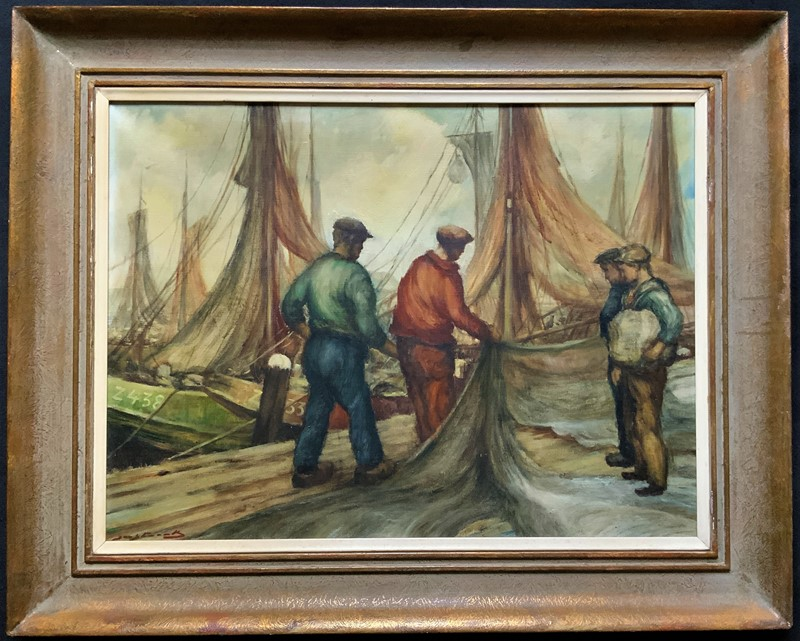 Cornish School - Large early 1900s Oil Painting-artsonline-img-1737-2-main-637479537956660422.JPG