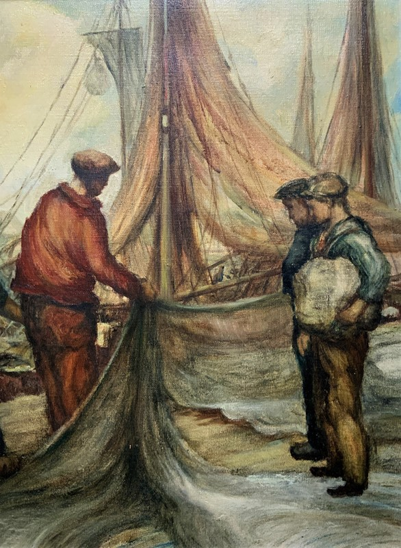 Cornish School - Large early 1900s Oil Painting-artsonline-img-1740-2-main-637479539936338082.JPG