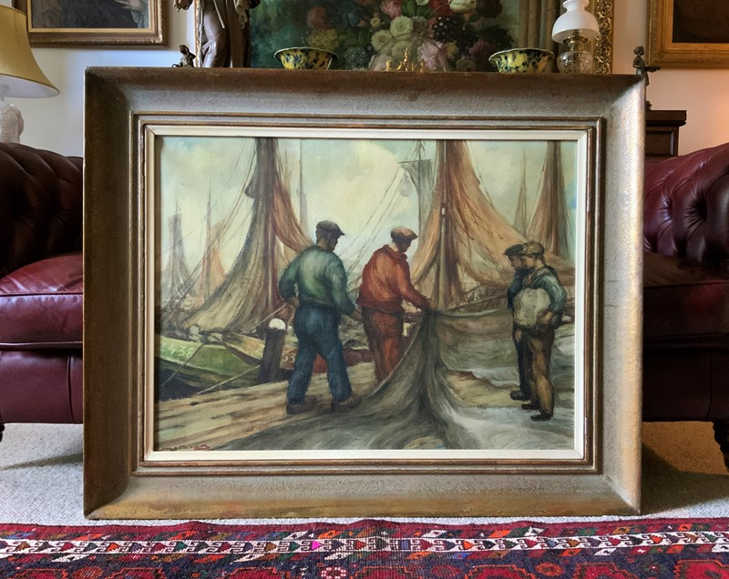 Cornish School - Large early 1900s Oil Painting-artsonline-img-1757-2-main-637479540206804016.JPG