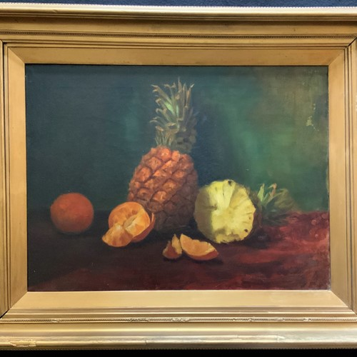 1900s Original Fruit Still Life Study Oil Painting