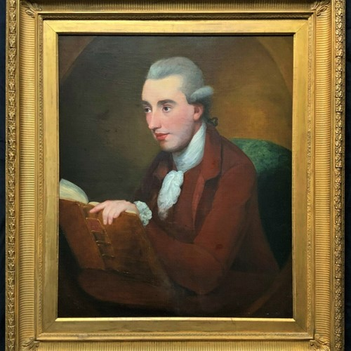 Large 18th Century Portrait Oil Painting