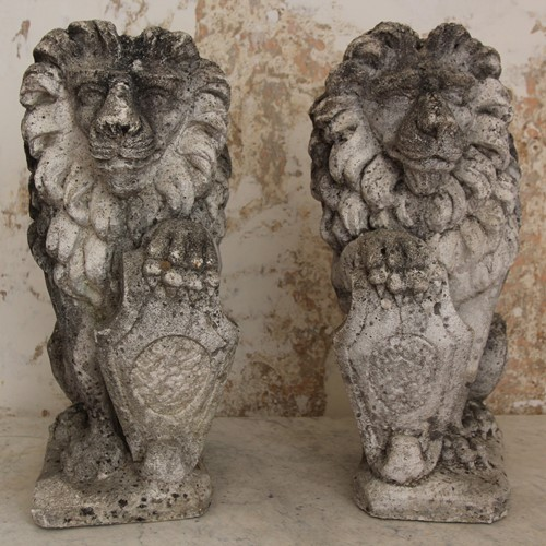 Reconstitued Stone Lions