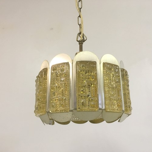 1970s Danish ceiling pendant probably by Lyskaer