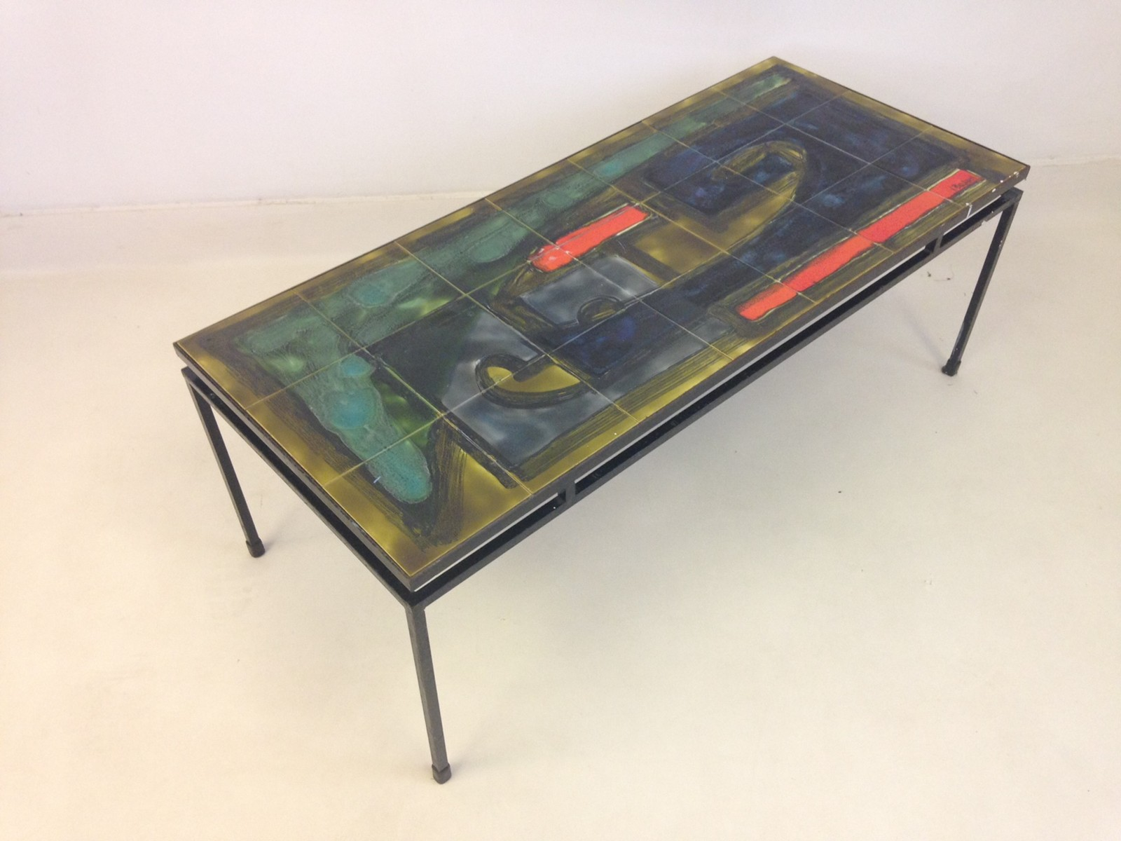 Tile top and steel coffee table by Belarti The Hoarde