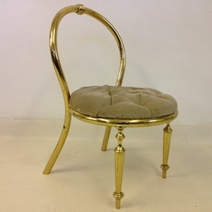 1970s brass chair