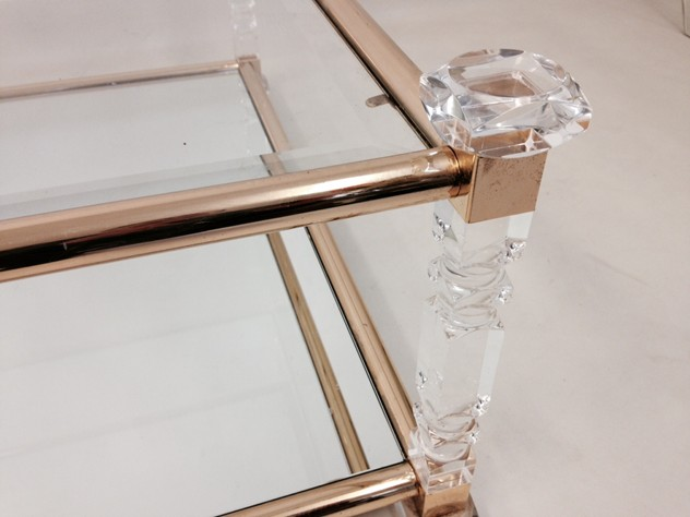 Acrylic and brass coffee table-august-interiors-cut lucite table2_main.jpeg