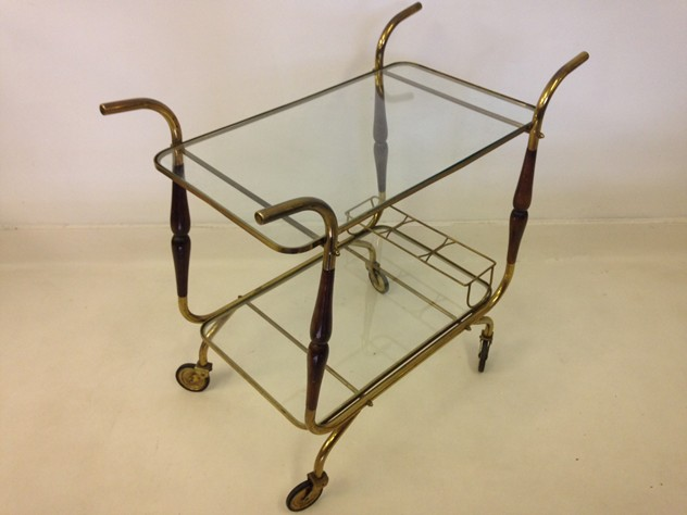 Italian brass and wood trolley-august-interiors-italian trolley_main.JPG
