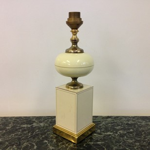 Metal and brass table lamp