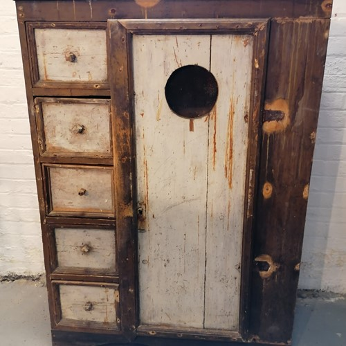 Excellent 19/20th C Folk Art Food Cupboard