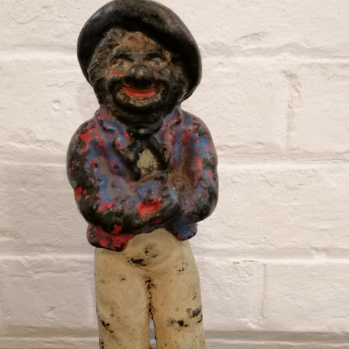 Charming small Cast Iron Matalot Door Stop