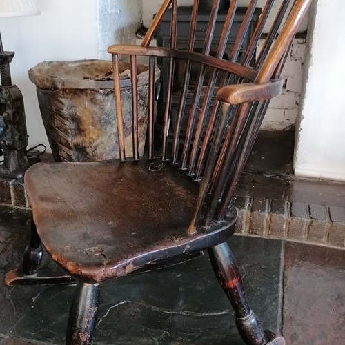 Wonderful 18th C Windsor Rocking Chair