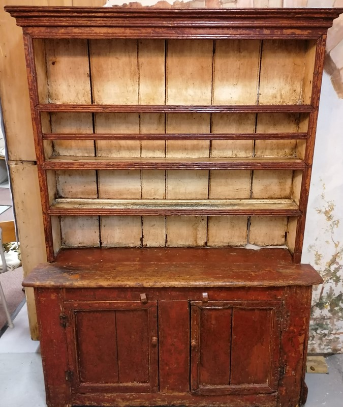 Beautiful 19th C Irish Country painted Dresser-b-and-r-antiques-img-20200803-104806-2-main-637323150562981336.jpg