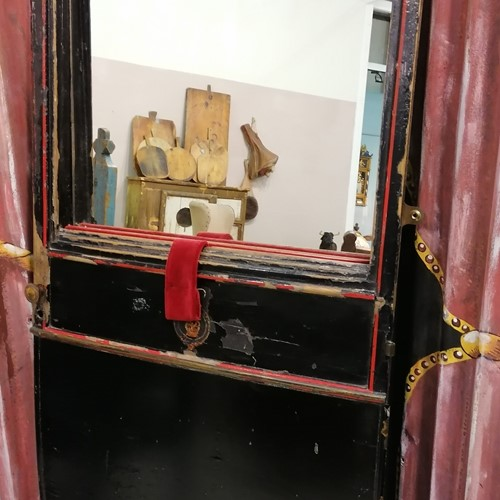 A very unusual Georgian Carriage Door Mirror