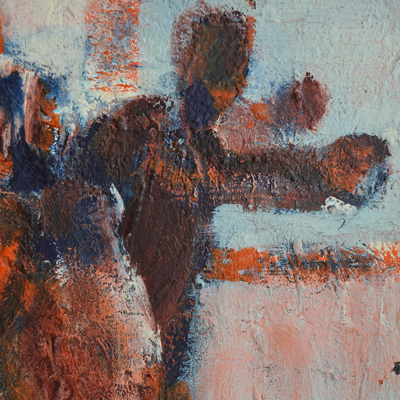 1960's, Large, Expressionist Painting, 'The Game'-barnstar-The Game DEET1-main-636688273383040663.jpg