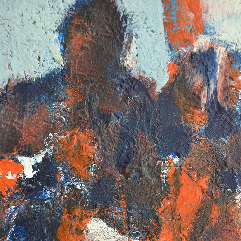 1960's, Large, Expressionist Painting, 'The Game'-barnstar-The Game DEET2-main-636688273392089127.jpg