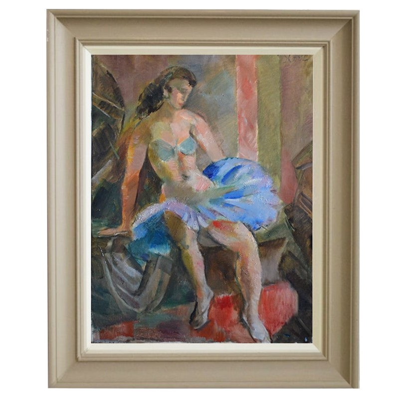 1950 Swedish Painting, 'Dancer,' JULES SCHYL-barnstar-dd4e9739-e6aa-4f6e-a957-593e8bae56eb-main-637086643513174787.jpeg