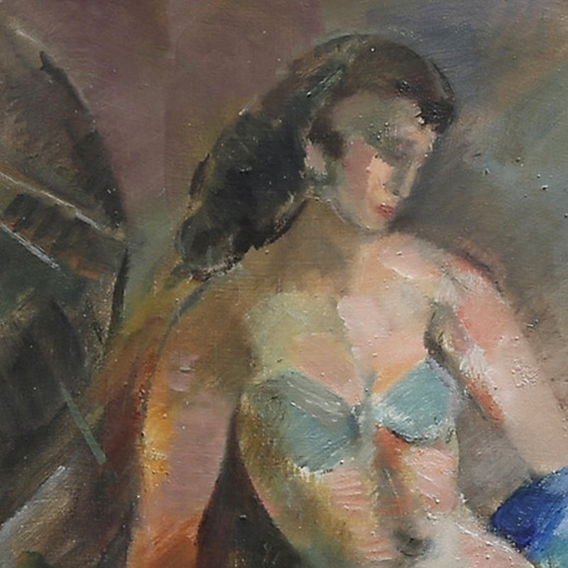 1950 Swedish Painting, 'Dancer,' JULES SCHYL-barnstar-e63f2f10-dca7-4f10-a8ba-bdf1cf09d83f-main-637086643620361169.jpeg