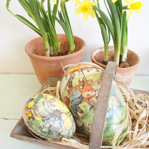 Vintage German card Easter eggs