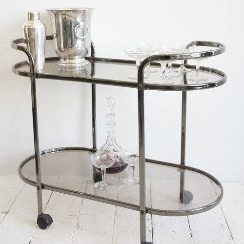 Retro cocktail drinks trolley