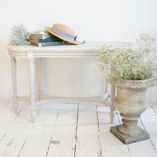 Painted antique French bench