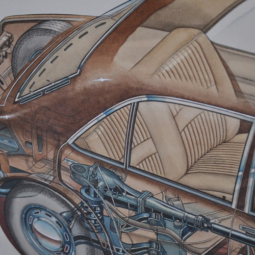Original artwork of Ford Granada Consul