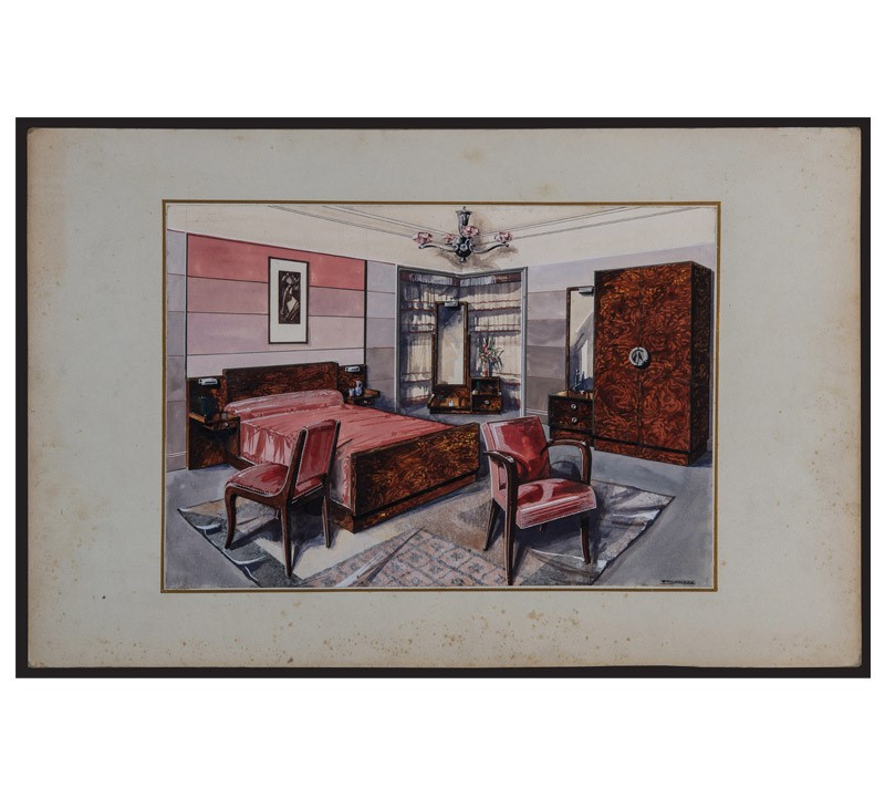 Watercolor Studies Art-Deco Interiors-bibliotheca-culinaria-9268-stampa-camera-1-main-637044873469958409.jpg